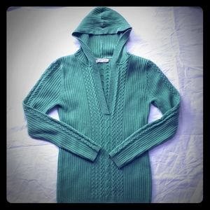 (2/$15) Green Hooded Sweater